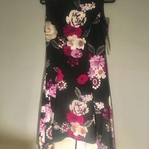 New High Low Flowery Dress Size 10